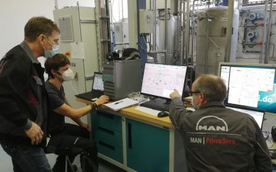 Commissioning of Turbomachine with Magnetic Bearings Successfully Completed